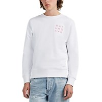Saturdays Surf Nyc Bowery Logo Print Cotton Sweatshirt White