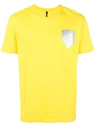 Versus Logo Patch T Shirt Yellow Orange