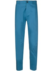 Department 5 Slim Fit Tailored Trousers Blue