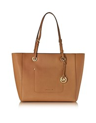 Michael Kors Walsh Large Acorn Saffiano Leather Ew Top Zip Tote Brown