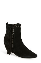 Coconuts By Matisse Women's 'Sissy' Fringe Boot Black Suede