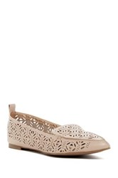Aldo Onerin Laser Cut Pointed Toe Flat White