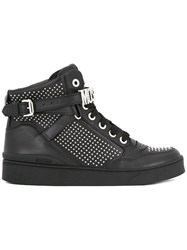 Moschino Stud Embellished Hi Top Sneakers Black
