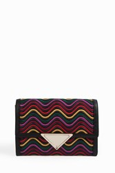 Sara Battaglia Women S Elizabeth Wave Clutch Boutique1 884 Black Waves