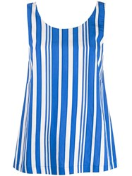 Chinti And Parker Striped Tank Top Blue