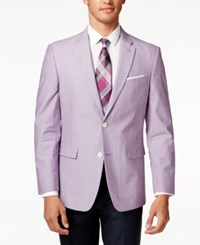 Tommy Hilfiger Chambray Classic Fit Sport Coat Purple