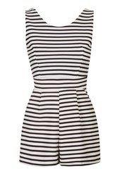 Sleeveless Stripe Playsuit By Wal G Black