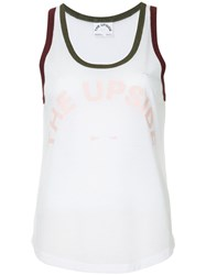 The Upside Curved Tank Top White