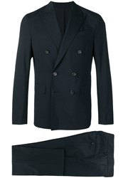 Dsquared2 Classic Double Breasted Suit Blue