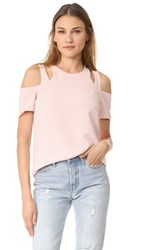 Cooper And Ella Padma Cold Shoulder Top Pale Pink