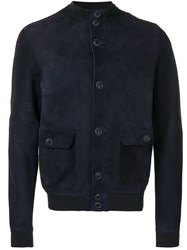 Salvatore Santoro Suede Jacket Blue