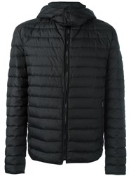 Salvatore Ferragamo Hooded Padded Jacket Black