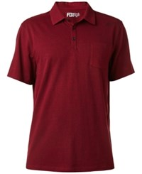 Fox Men's Legacy Heathered Polo Heather Burgundy