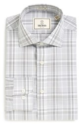 Todd Snyder Trim Fit Plaid Dress Shirt Gray