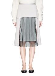 Toga Archives Mesh Panel Jersey Midi Skirt White