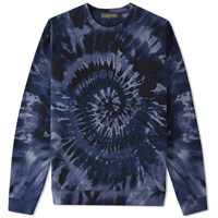 Valentino Tie Dye Crew Sweat Blue