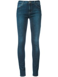 Gucci Loved Embroidered Jeans Blue