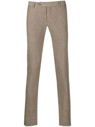Entre Amis Skinny Tailored Trousers Neutrals