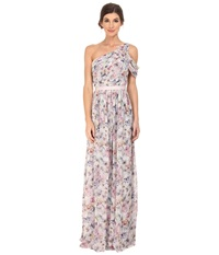 Donna Morgan Printed One Shoulder Pink Multi Women's Dress