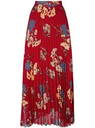Dondup 'Soleada' Pleated Skirt Red
