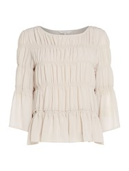 Part Two Pleated Blouse Light Pink