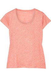 Majestic Linen And Silk Blend T Shirt Orange