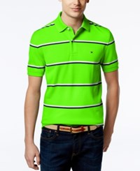 Tommy Hilfiger Men's Andrew Stripe Polo Bright Lime Green