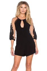 For Love And Lemons Valentina Romper Black