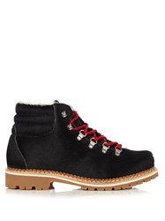 Montelliana Margherita Calf Hair Apres Ski Boots Black