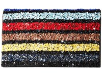 Alice Olivia Multi Stripe Be Clutch Multi Clutch Handbags