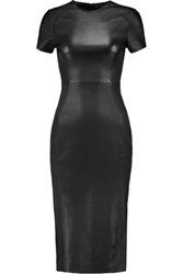 Iris And Ink Valencia Stretch Leather Midi Dress Black