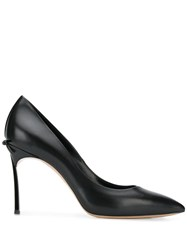 Casadei Rear Ribbon Bow Pumps Black