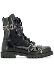 Christian Pellizzari Buckled Ankle Boots Black