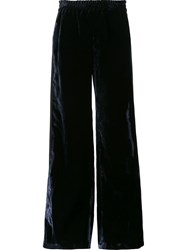 Faith Connexion Velvet Effect Palazzo Pants Black