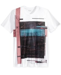 William Rast Men's Aerial Graphic Print T Shirt