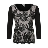 Jacques Vert Lace And Bead Front Jumper Multi Black