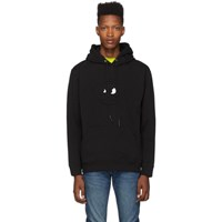 Mcq By Alexander Mcqueen Black Embossed Chester Hoodie