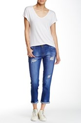 Jolt Deconstructed Girlfriend Jean Juniors Blue