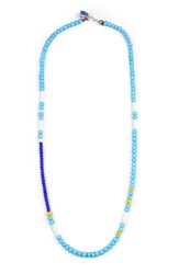 George Frost Men's Calm Morse Necklace Blue White Yellow