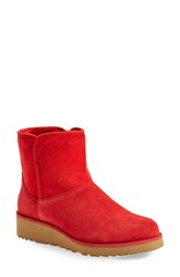 Women's Ugg 'Kristin Classic Slim' Water Resistant Mini Boot Scarlet Red Suede