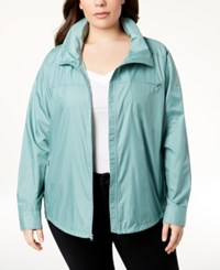 Columbia Plus Size Sustina Springs Windbreaker Dusty Green