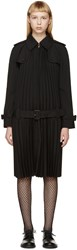 Junya Watanabe Black Pleated Trench Coat