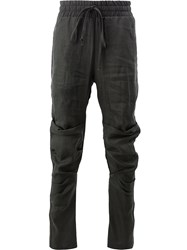 Lost And Found Ria Dunn Creased Tie Waist Trousers Black