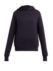 The Row Wren Cotton Hooded Sweatshirt Navy