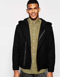 Asos Drapey Wool Mix Coat In Black
