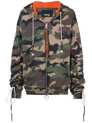 Mostly Heard Rarely Seen Camouflage Zip Up Hoodie Green