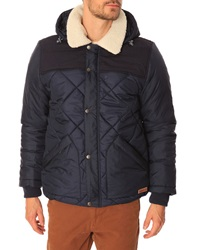 Knowledge Cotton Apparel Pet Quilted Hooded Down Jacket With Removable Collar