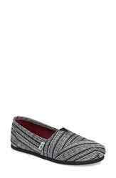 Toms Women's Classic Silver Metallic Stripe Slip On