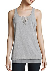 Nanette Lepore Braided Tank Top Citrus