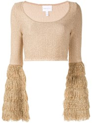 Alice Mccall Tiered Fringe Crop Top 60